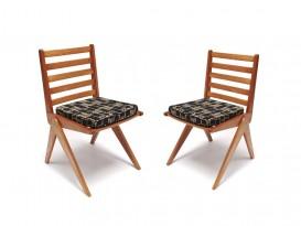 Rare paire de chaises compas