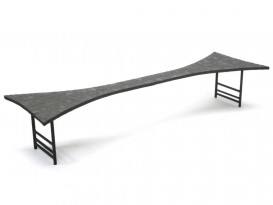 Spectacular hourglass low table