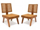 A pair of caned chairs