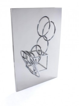Kinetic wall sculpture