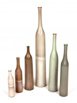 Six ceramic bottles