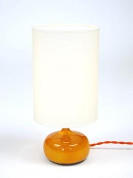 Orange ceramic table lamp