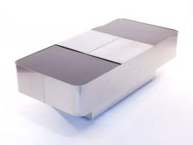 Table basse/bar en acier inoxydable