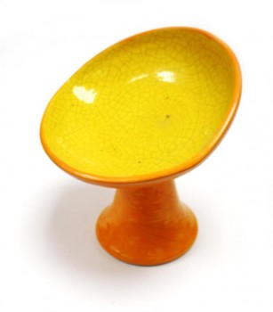Yellow and orange ceramic