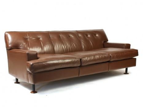 Canapé 3 places en cuir modèle Square